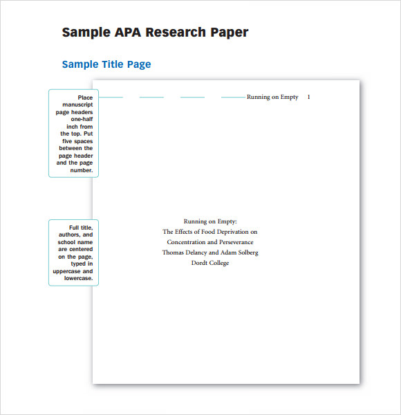 Help writing paper apa format