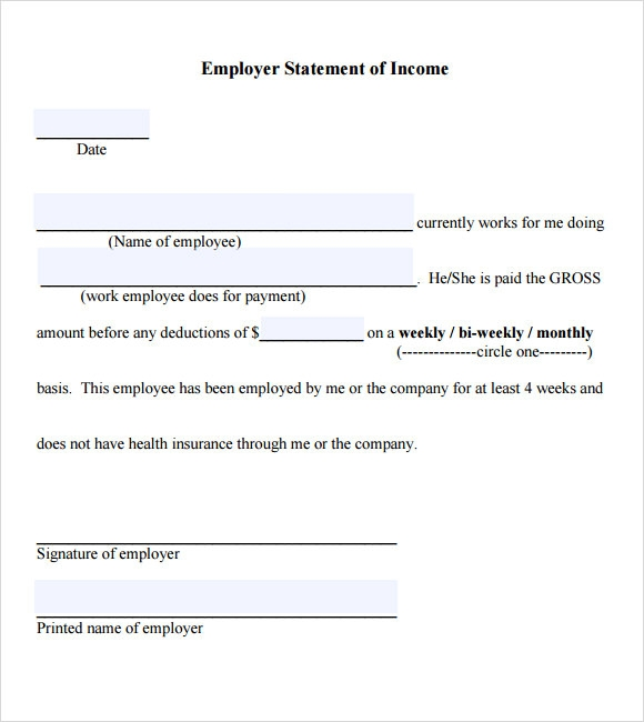 Proof of Income Letter Template 7 Download Documents in PDF – Proof of Employment Form