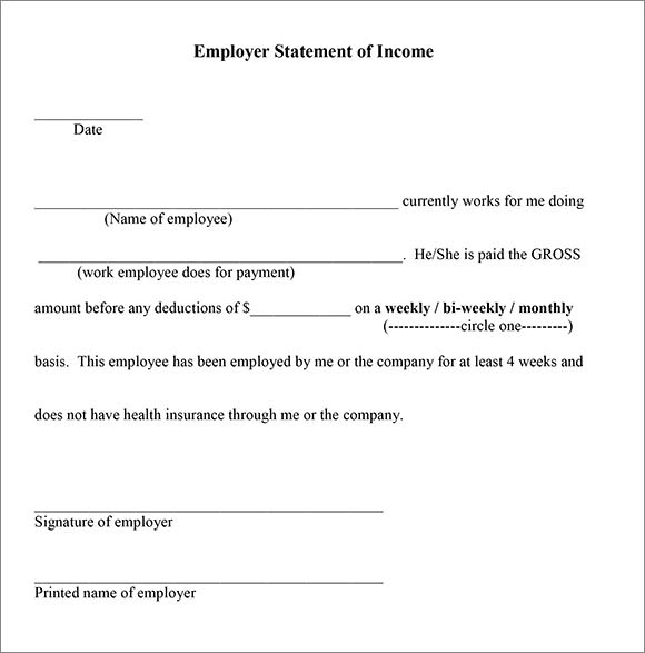 Proof of Income Letter Template   7  Download Documents in PDF 1JtcuxKd