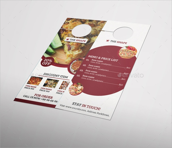 10 Restaurant Door Hanger Templates PSD In Design – Restaurant Door Hanger Template