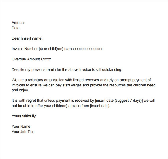 Permalink to Debt Collection Letter Template