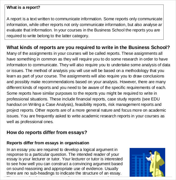 business school report writing