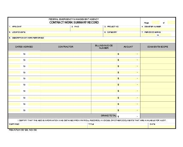 contract work summary in excel1