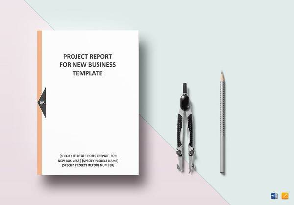 editable new business project report template