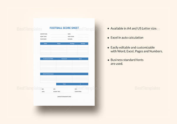 football score sheet template1