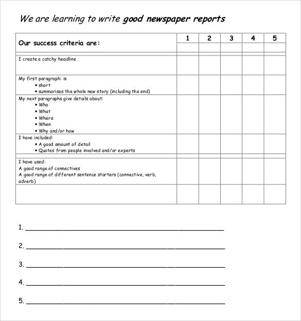 newspaper report writing