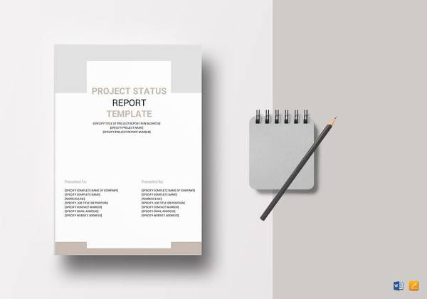 printable project status report template