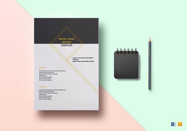 printable weekly sales report template