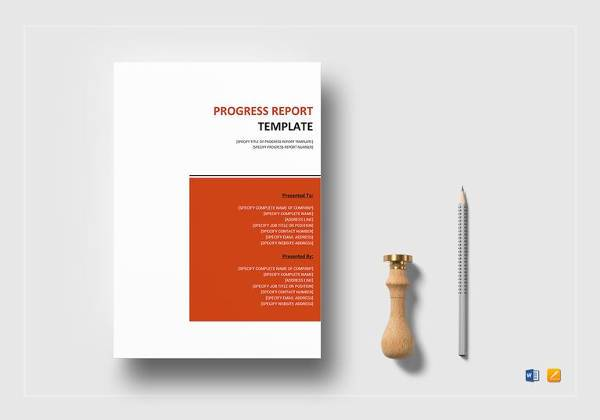 progress report template in word format