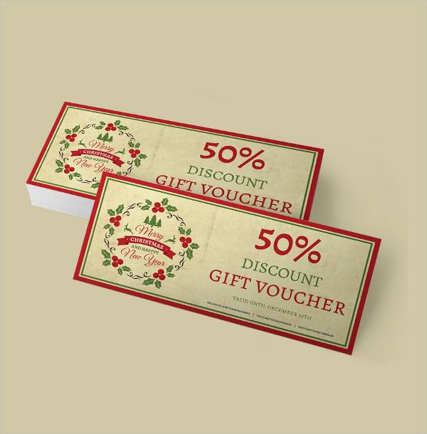 simple christmas discount voucher