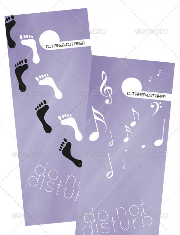 consulting services door hanger vector