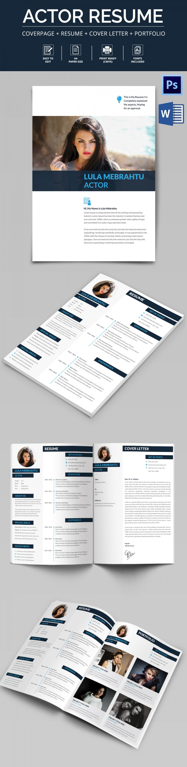 Acting Cv Templates Download For Free  Sample Templates