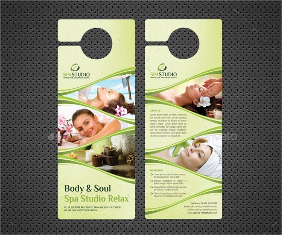 Delightful Healthcare Door Hanger Vector