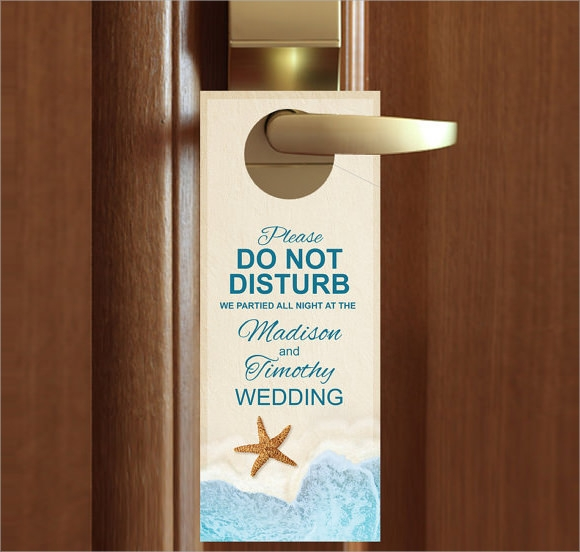 custom wedding door hanger
