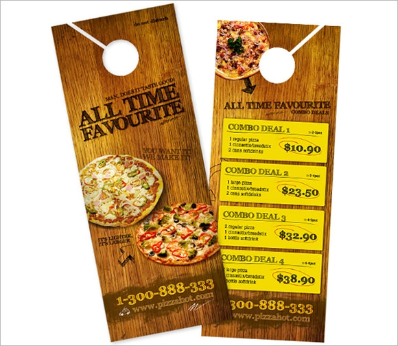 10+ Restaurant Door Hanger Templates - Psd , In Design