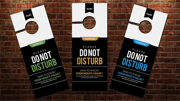 free do not disturb door hanger template.html