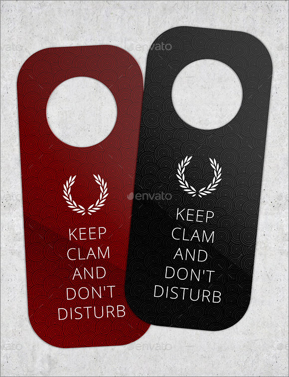 Do Not Disturb Door Hangers  Psd Vector Eps