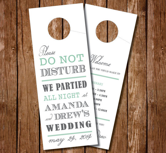 Simple Wedding Door Hanger Template
