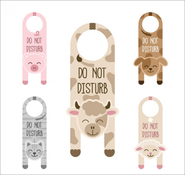 Do Not Disturb Door Hanger Template | 12 Do Not Disturb Door Hangers Psd Vector Eps