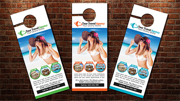 Sample Door Hanger Design  Psd Vector Eps