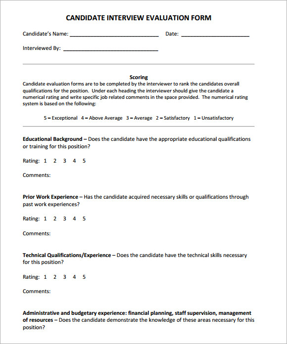 simple interview evaluation form1