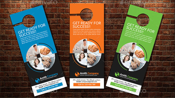 Retail And Consumer Door Hangers  Psd