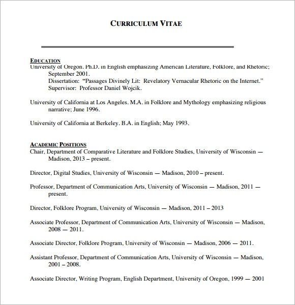 Sample Blank CV 6 Documents in PDF Word – Blank CV Template