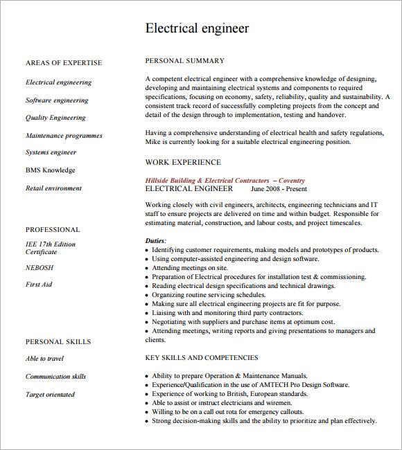 8+ Engineering CV Templates | Sample Templates