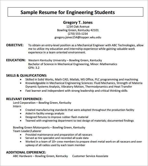 How To Write A Cv For Engineering Pdf
