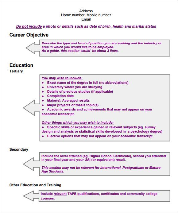 modern cv template 7 documents in pdf sle