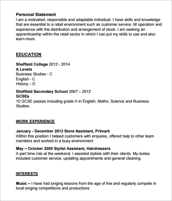 Sample Hairdressing CV Template 7 Download Documents in PDF – Hair Stylist CV Template