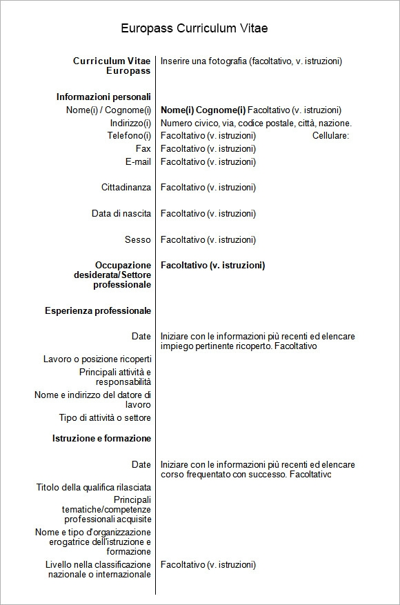 Example Of Cv Europass Example Of Europass Curriculum Vitae Dental