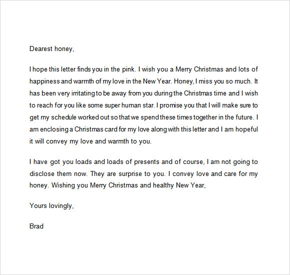 Sample Christmas Letter 19 Documents In PDF Word – Christmas Card Letter Templates