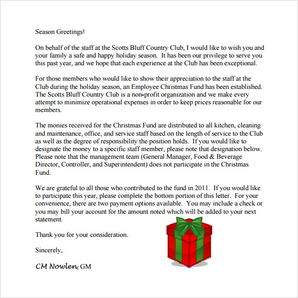 free 23  sample christmas letter templates in pdf
