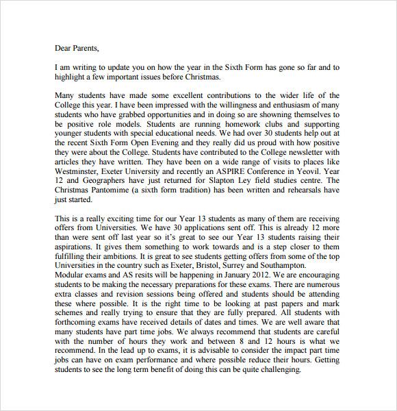 pre christmas letter