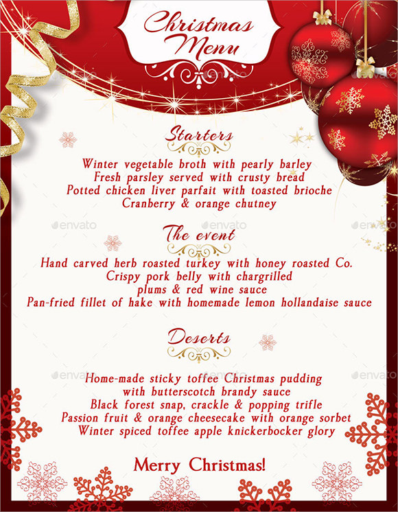 20+ Christmas Menu Templates Download Documents in PSD , PDF ...