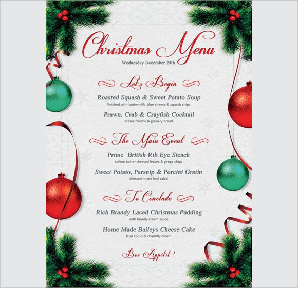 20+ Christmas Menu Templates - Download Documents in PSD , PDF ...