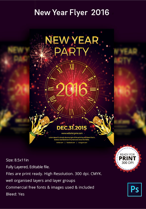new year party flyer template 34 download documents in psd pdf illustrator