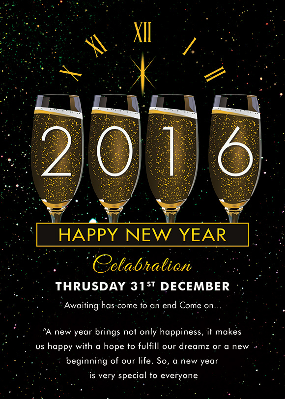 25 new year invitation templates to download sample for New year invite templates free