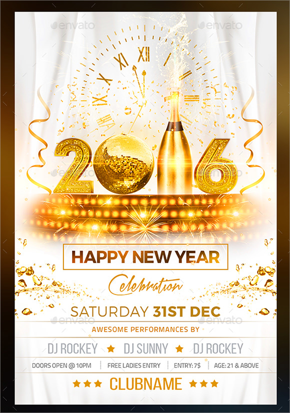 sample new year party flyer