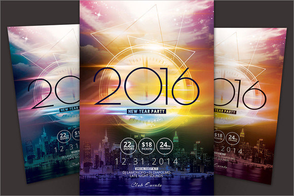 new year party flyer template download