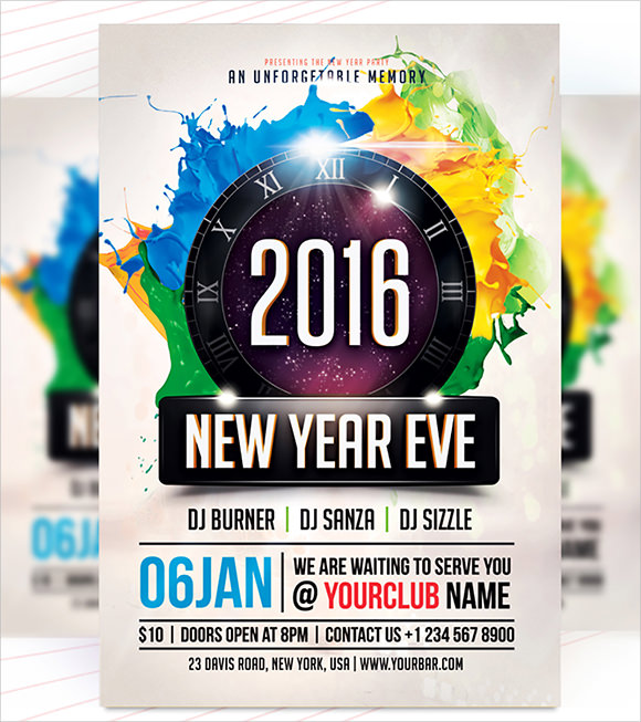 new year party flyer 2016