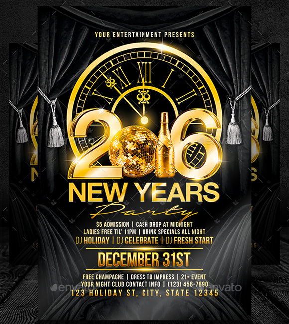 New Year Party Flyer Template   Download Documents In Psd