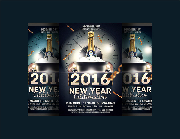 new year celebration party flyer template