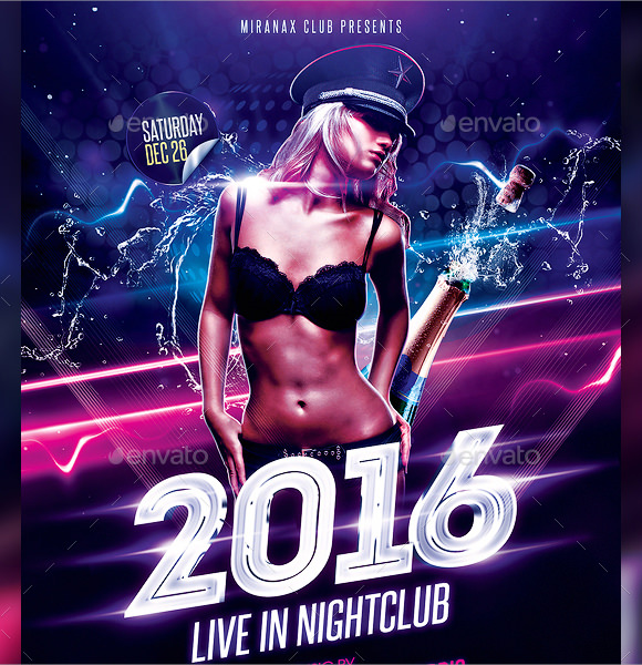 new year party flyer templates