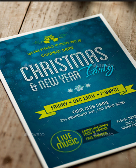 new year brochure template psd