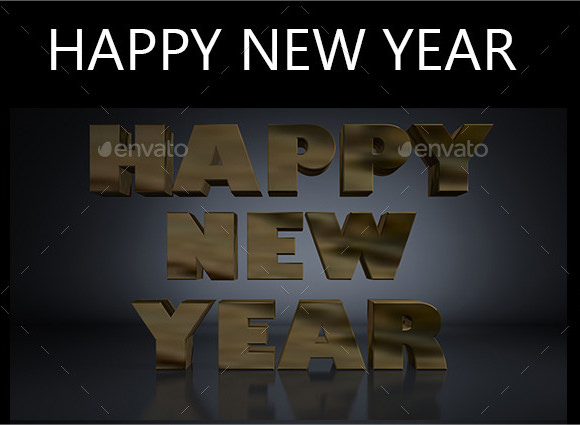 happy new year 3d brochure template
