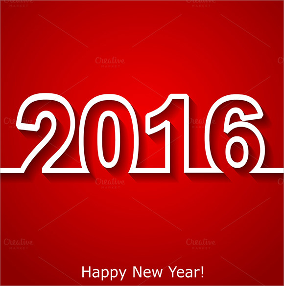 new year 2016 text design brochure