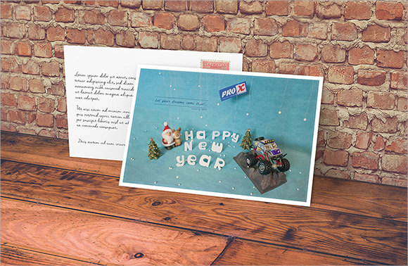 hny greeting card template