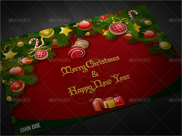 new year greeting card psd